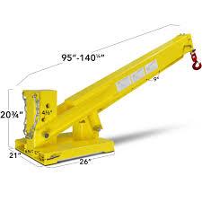 titan forklift adjustable mobile crane lifting hoist truss jib