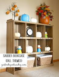 styling a sauder bookcase yesterday on tuesday