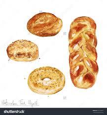 cr駱ine cuisine 水彩剪纸艺术 烤食物 孤立的 食品及饮料 物体 海洛创意 hellorf