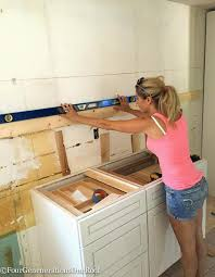Kitchen Cabinet Fasteners Chic Install Kitchen Cabinets How To Replace Yourself The