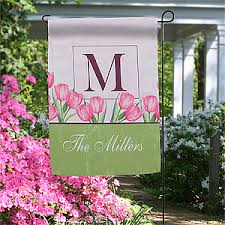 tulips personalized garden flags for the home