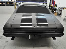racing skins 1968 chevelle u2013 matte black paint wrap with gloss