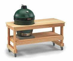 large green egg table big green egg tables nests carts options for every backyard