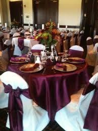 Used Wedding Chair Covers Satin Wine Overlays And Sashes White Chair Covers And