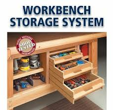 Work Benches With Storage I Could Totally Use This Storage Under My Workbench Workshop