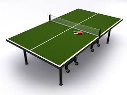 ping pong table tennis table tennis or ping pong table 3d sports cgtrader