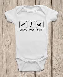 crawl walk surf onesies brand bodysuits baby bodysuit or