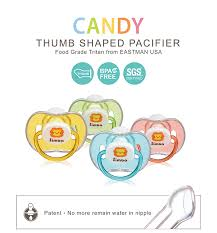 pacifier shaped candy candy thumb shaped pacifier orange 0 m