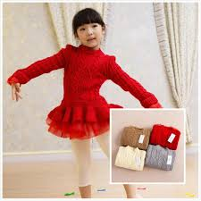 best girls baby lace tutu sweater dresses kids baby childrens