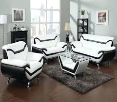 white living room furniture set black and leather all modern house