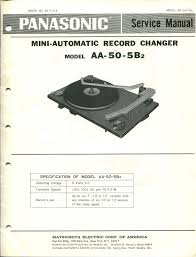 vintage panasonic service manual model aa 50 5b2 mini automatic