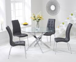 Buy Mark Harris Daytona Cm Glass Round Dining Set With - Glass round dining room tables