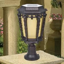 Patio Pillar Lights 17 High Traditional Style Decorative Bright Solar Powered