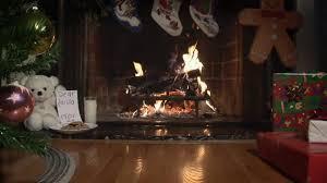 holiday video fireplace with christmas tree and model train youtube
