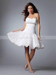 brautkleid kurz weiãÿ standesamtkleider schmale kurz herz ausschnitt weiß taft
