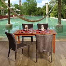 Affordable Patio Dining Sets - ivy terrace classics sand 5 piece patio dining set ivs109 1 sa