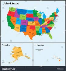 usa map alaska detailed map usa including alaska hawaii stock vector 574895977