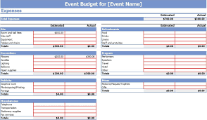 monthly budget planner template 9 event budget templates word excel pdf formats