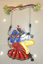 home decor gifts online india buy diwali deocorations radha krishna under jhula online