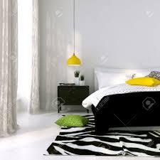 Schlafzimmer Lampe Bilder Schlafzimmer In Schwarz Und Weiß Mit Der Gelben Lampe Und Farbigen