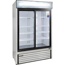 sliding glass door fridge refrigeration