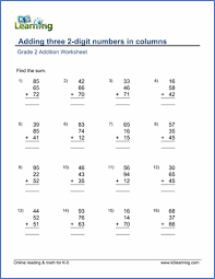 new grade 2 math worksheets pages