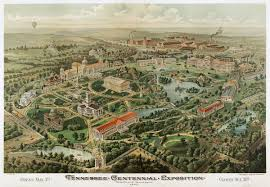 1964 World S Fair Map by Tennessee Centennial And International Exposition Wikipedia