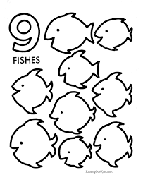 number coloring pages kids coloring