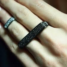black finger rings images Diamond ring on black finger JPG