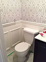 powder room update week 3 adding wainscoting boxes a tiny