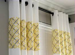 Grey White Striped Curtains Furniture Grey White And Yellow Curtains Yellow And White