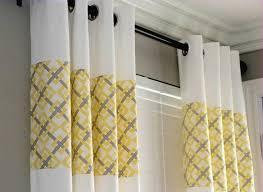 Grey White Striped Curtains Furniture Grey White And Yellow Curtains Yellow And White