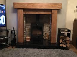 fire surround 15 x 15cm rustic oak beam mantle fascia wood n
