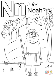 noah coloring page letter n is for noah coloring page free