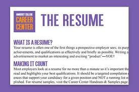 How To Write A Resume For College Application Loeb Center For Career Exploration And Planning Find A Job