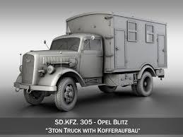 opel blitz interior opel blitz 3t truck with kofferaufbau 3d cgtrader