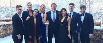 glee u0027 cast reunites at becca tobin u0027s winter wedding abc news