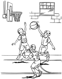 good basketball coloring pages 50 with additional line drawings