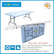 Banquet Table Size by 2m Folding Banquet Table Foldable Dining Table Plastic Banquet