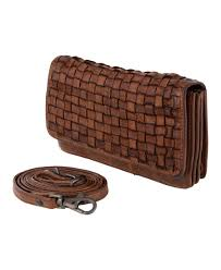 bear design crossbody bag wallet of braided washed leatherr 99 90 u20ac