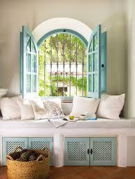 relajada y serena casa de campo alcove window and nook