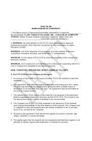Written Notice Of Termination memorandum of agreement