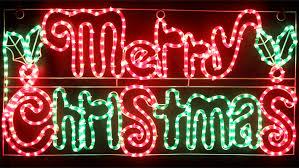 led merry christmas light sign vickysun com animated 104cm led merry christmas sign with holly