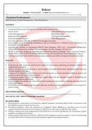 Dba Sample Resume by Oracle Dba Resume Format Resume For Your Job Application