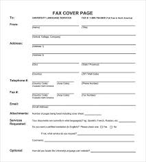 sample fax cover page 8 documents in pdf