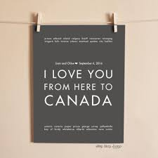 wedding gift amount canada canada custom wedding print gift idea hopskipjumppaper