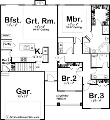 house plans 1 story 1 story traditional house plan overwood