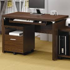 Glass Top Desk With Keyboard Tray Glass Wood Computer Desk With Keyboard Tray Best Wood Computer