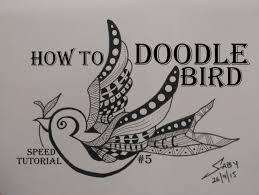 zentangle art tutorial for beginners draw easy bird doodle design