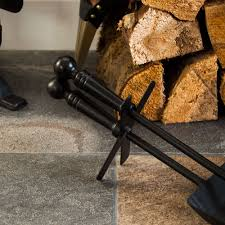 home discount hearth shovel and brush set black fireside fireplace